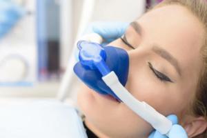 Patient undergoing sedation dentistry